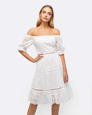 MVN – Memory Lane Lace Dress White