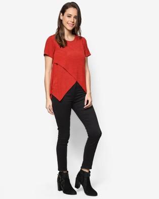 BoyFromBlighty – BoyFromBlighty Knit Wear Essentials – Tops (Red)