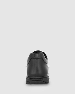 Ascent - Apex B Width School Shoes (Black)