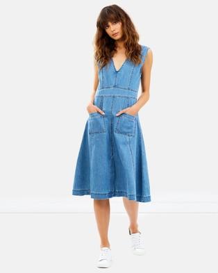 Ryder – Aubrey Denim Midi Dress Blue