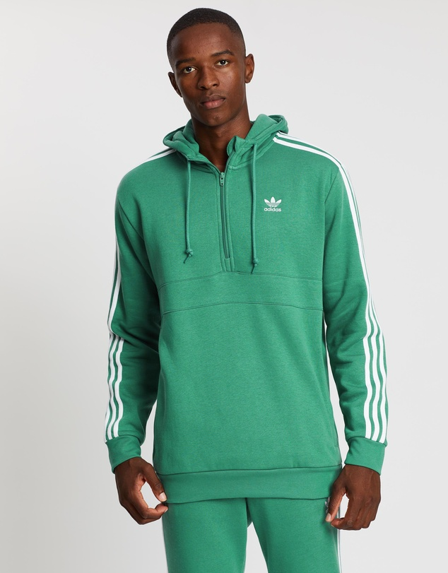 batería su relajado  3-Stripes Half-Zip Hoodie by adidas Originals Online | THE ICONIC |  Australia