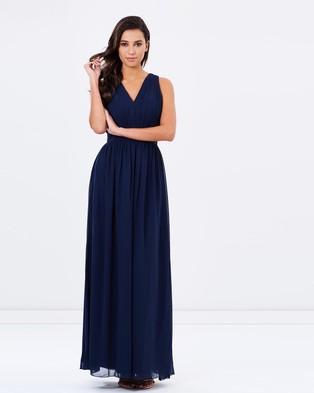 Chi Chi London – The Luna Dress – Bridesmaid Dresses (Navy)