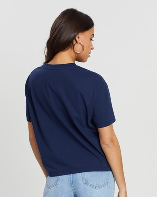 Tommy Jeans Tommy Badge Tee - T-Shirts & Singlets (Black Iris)