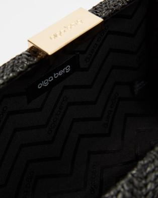 Olga Berg INES Woven Hardcase Clutch - Clutches (Black)