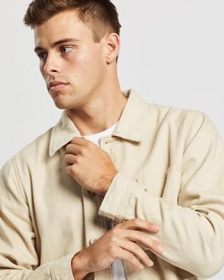 AERE Organic Twill Chore Jacket - Coats & Jackets (Ecru)