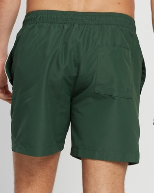 Calvin Klein Core Placed Logo Medium Drawstring Boardshorts - Shorts (Dark Green)