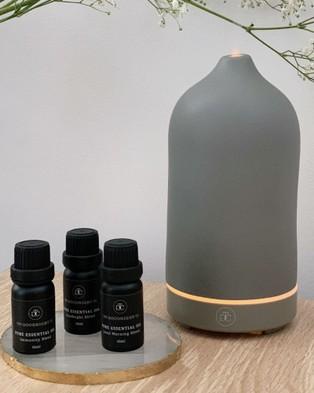 The Goodnight Co. Ceramic Essential Oil Diffuser - Diffusers (#C0C6BE)