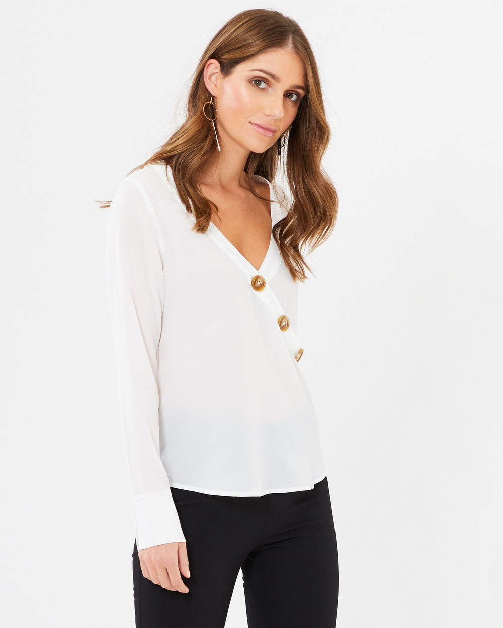 CHANCERY Jenna Blouse Cropped tops White Jenna Blouse