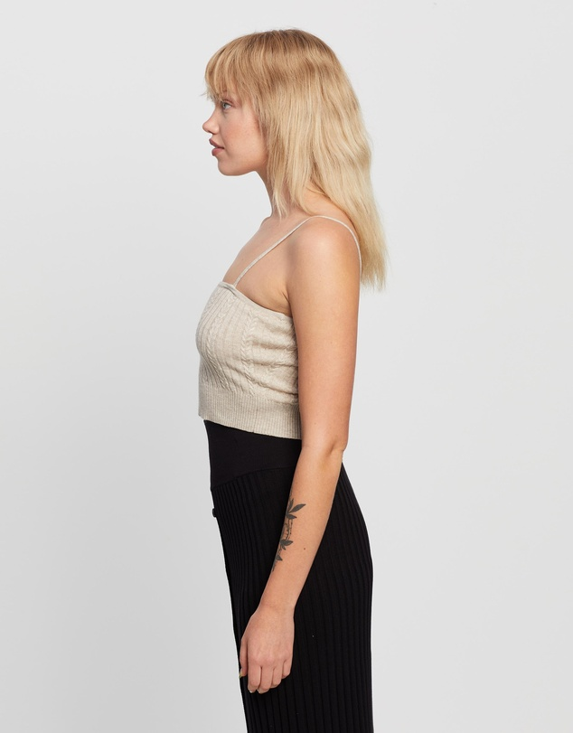 Women Ultimate Cable Crop Cami