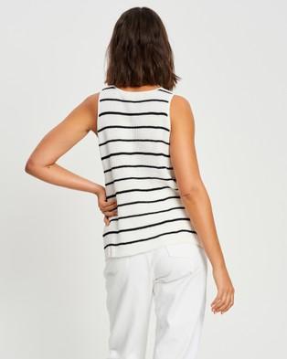 The Fated Louna Tank - Tops (Black & White Stripe)