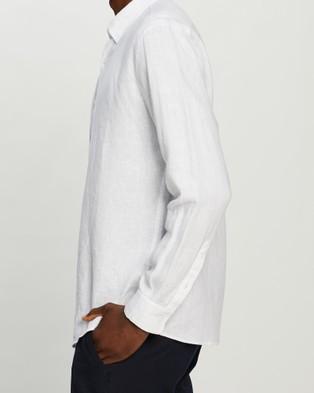 Marcs Felix Linen LS Shirt - Shirts & Polos (White )