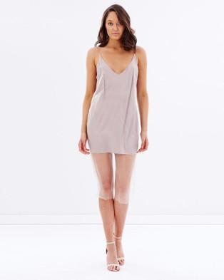 DELPHINE – The Comedown Dress – Bodycon Dresses Beige