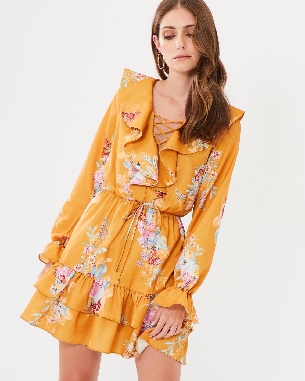 CHANCERY Regina Frill Dress Dresses Marigold Botanical Dream Regina Frill Dress