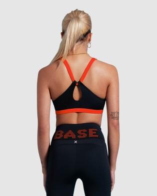 First Base Player Crop Top - Sports Bras (Black)