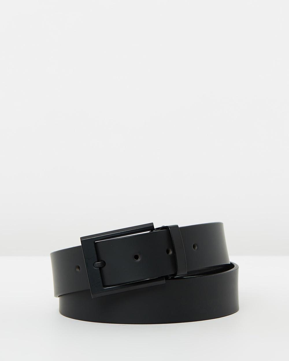 Buckle Sierra Leather Belt Belts Black