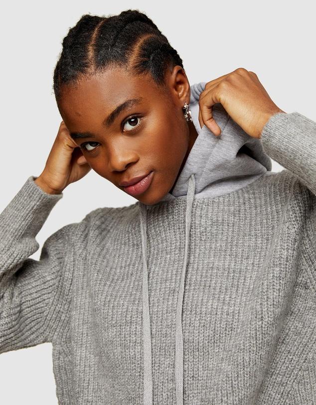Women Knitted Jersey Hoodie