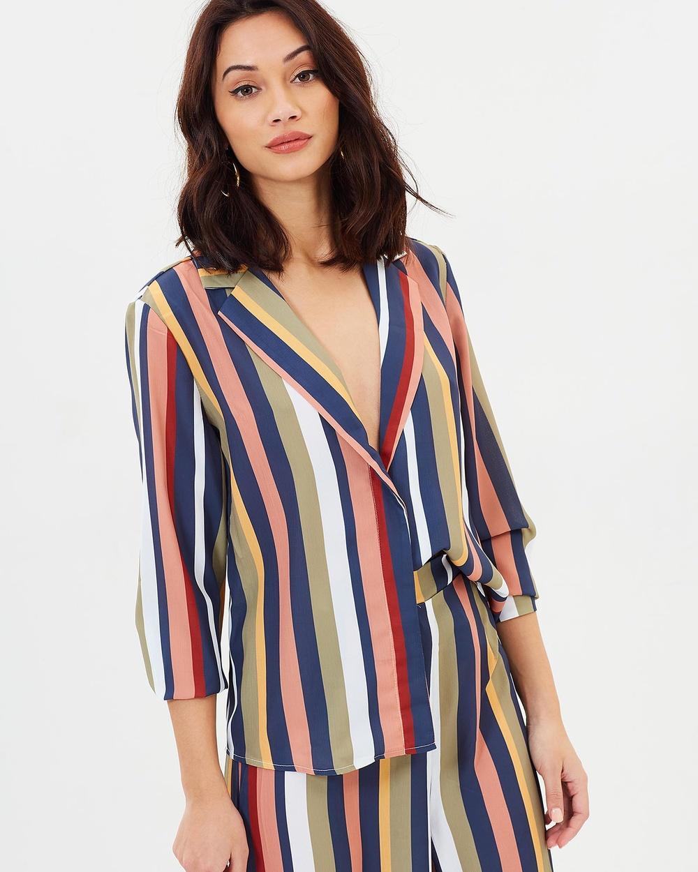 DELPHINE Gallows Shirt Tops Multi Stripe Gallows Shirt