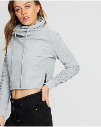 Nana Judy Adeline Crop Sweater Grey Marle