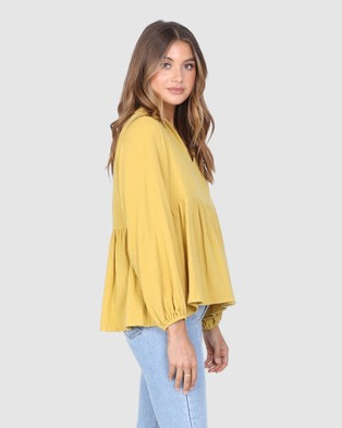 Madison The Label Liberty Top - Tops (Mustard)