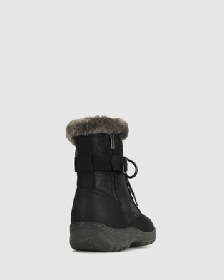 Betts Army Faux Fur Ankle Boots - Boots (Black)