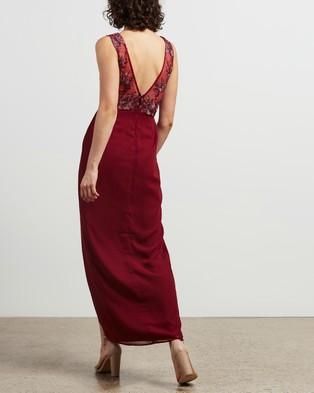 Chi Chi London Thalia Dress - Dresses (Burgundy)