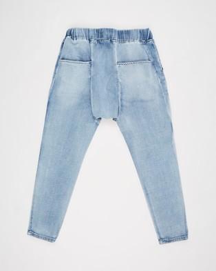 Decjuba Kids Emerson Drop Crotch Jeans   Kids Teens - Relaxed Jeans (Washed Indigo)