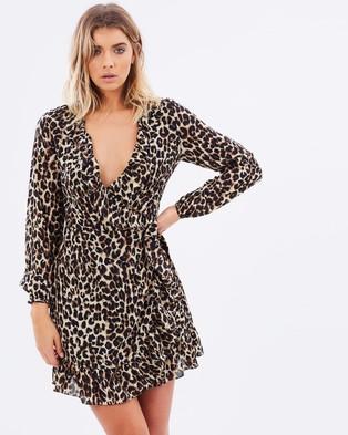 Atmos & Here – Betty Wrap Dress – Dresses (Leopard)