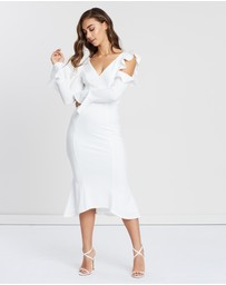 Bariano - Frill Cold Shoulder Dress