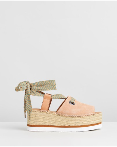 See By Chloé - Lace Tie Flatforms