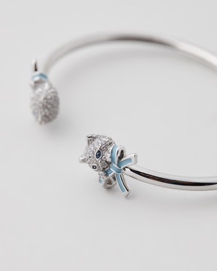 Kate Spade Pretty Kitty Pave Flex Cuffs - Jewellery (Clear & Silver)