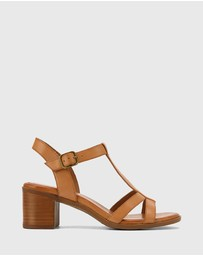 Wittner - Kendally Leather Open Toe Block Heel Sandals