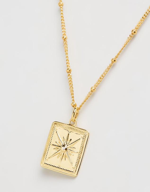 Women True North Coin Necklace