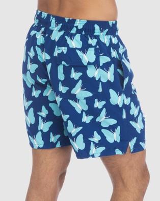 Tom & Teddy Butterfly Boardshorts - Swimwear (Blue)