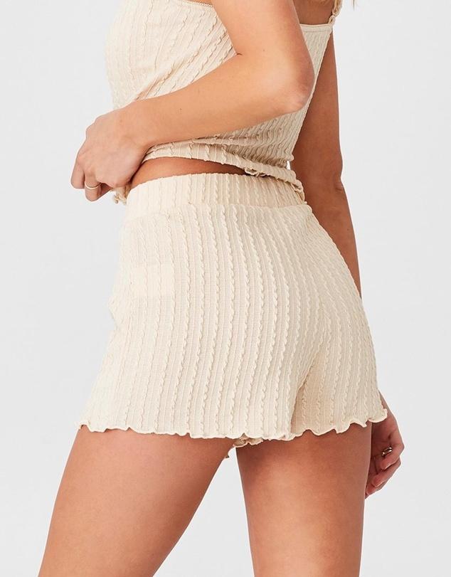 Women Knit Bed Shorts