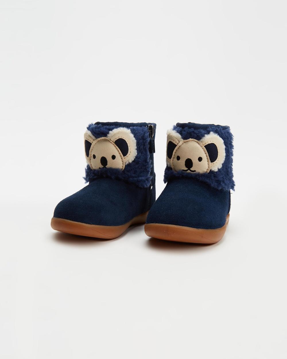 UGG Koala Stuffie Boots Babies Kids Slippers & Accessories Navy Suede Babies-Kids