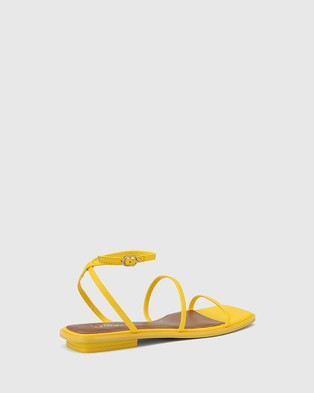 Wittner Emmy Leather Flat Strappy Sandals - Sandals (Yellow)