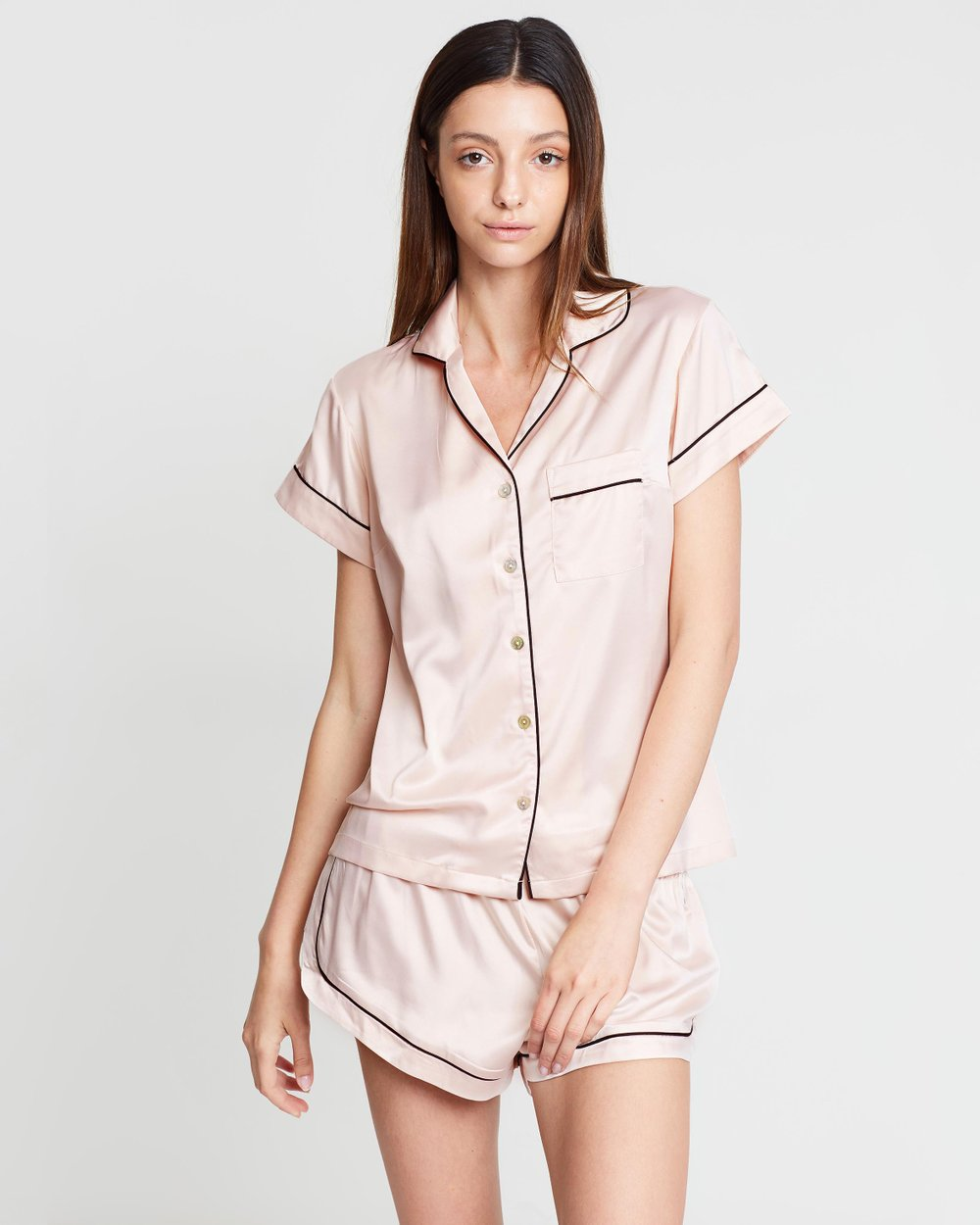 3195d3c3d30 Short Piping Pyjama Set by Homebodii Online