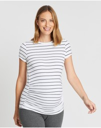 Cotton On Maternity - Maternity Wrap Front Short Sleeve Top - The Iconic Exclusive