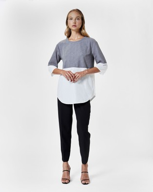 MVN Writings On The Wall Top - Tops (Grey)