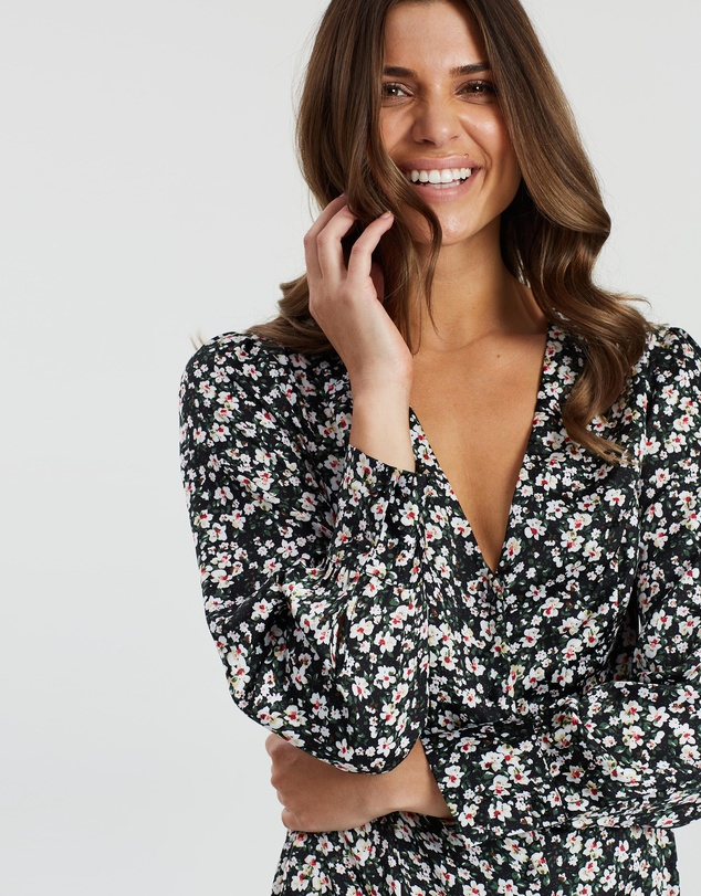Atmos&Here - Paris V Neck Floral Dress