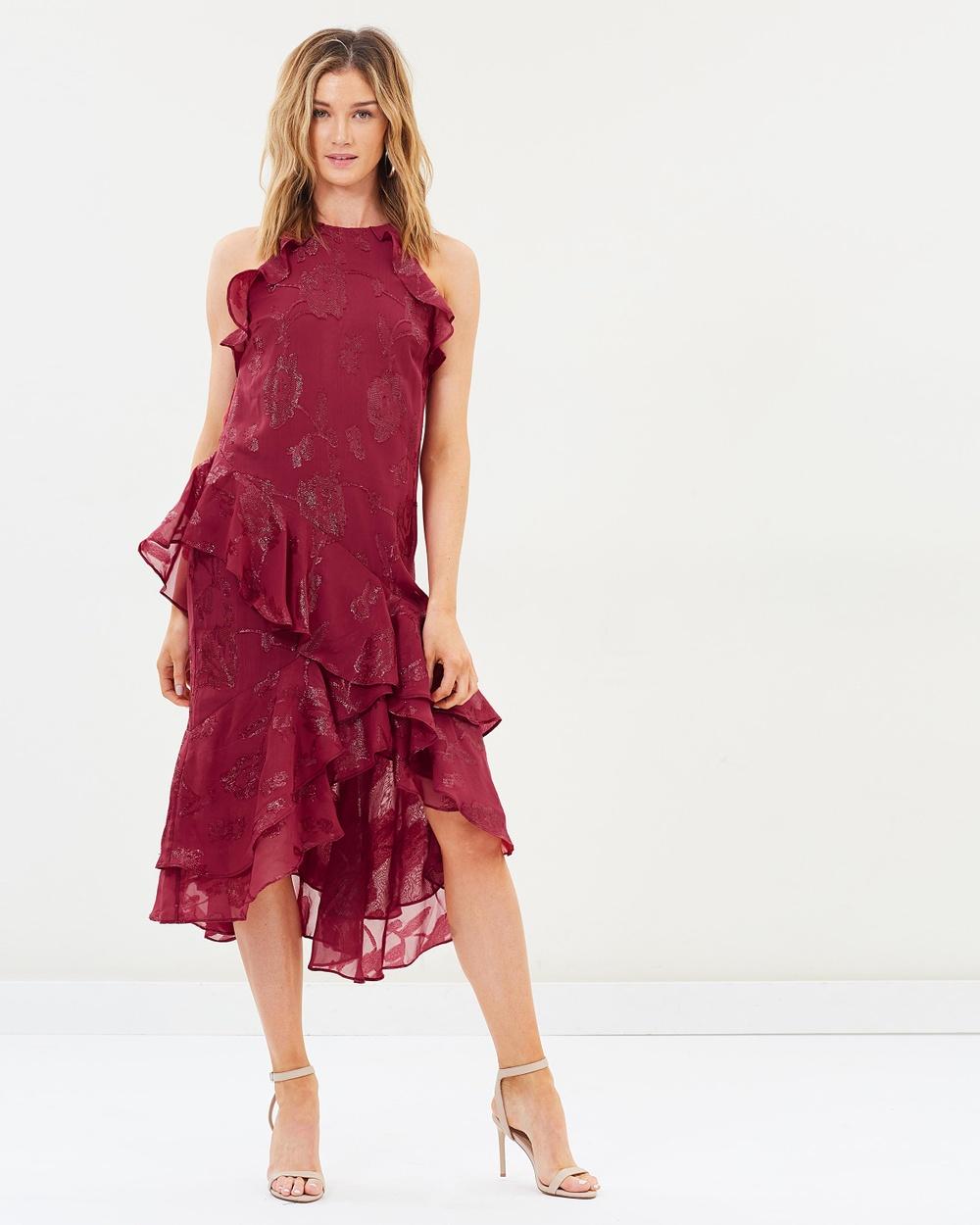 Cooper St Ophelia Sleeveless Frill Dress Bridesmaid Dresses Mulberry Ophelia Sleeveless Frill Dress