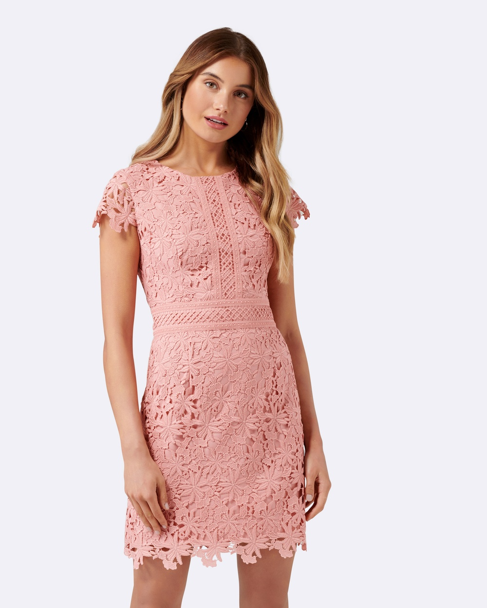 Forever New Bentley Lace Dress Dresses Pink Bentley Lace Dress