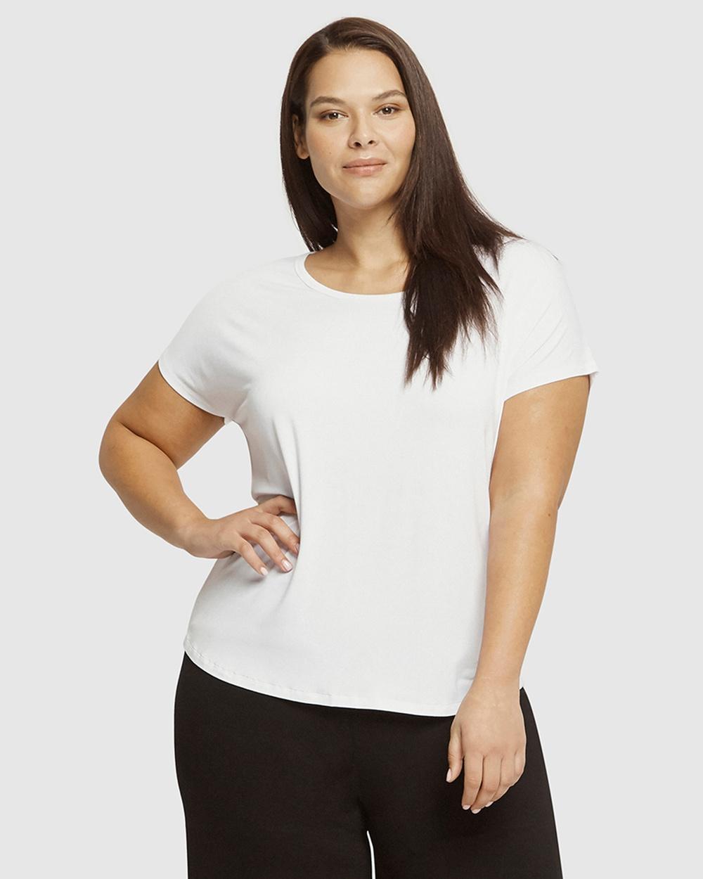Bamboo Body Eadie Tee Short Sleeve T-Shirts White