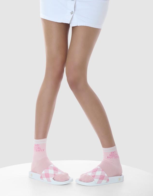 Women Anti Social Butterfly Cotton Sock