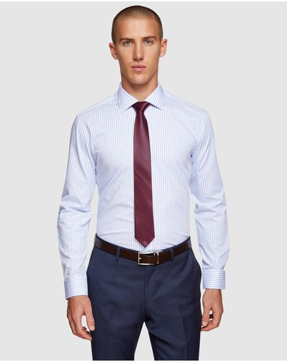 Oxford Islington Dobby Striped Shirt Blue/white