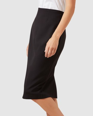 French Connection Stretch Pencil Skirt - Skirts (BLACK)