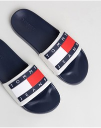 Tommy Hilfiger - Translucent Flag Pool Slides