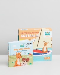 Mizzie The Kangaroo - Toddler Birthday Gift Set Mizzie Puzzle & Sound Book