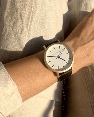 The Horse - The Original - Watches (Brushed Gold / Black Leather Strap) The Original