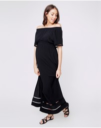 Ripe - Cold Shoulder Maxi Dress